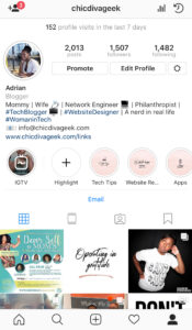 Instagram-profile-highlights-ChicDivaGeek