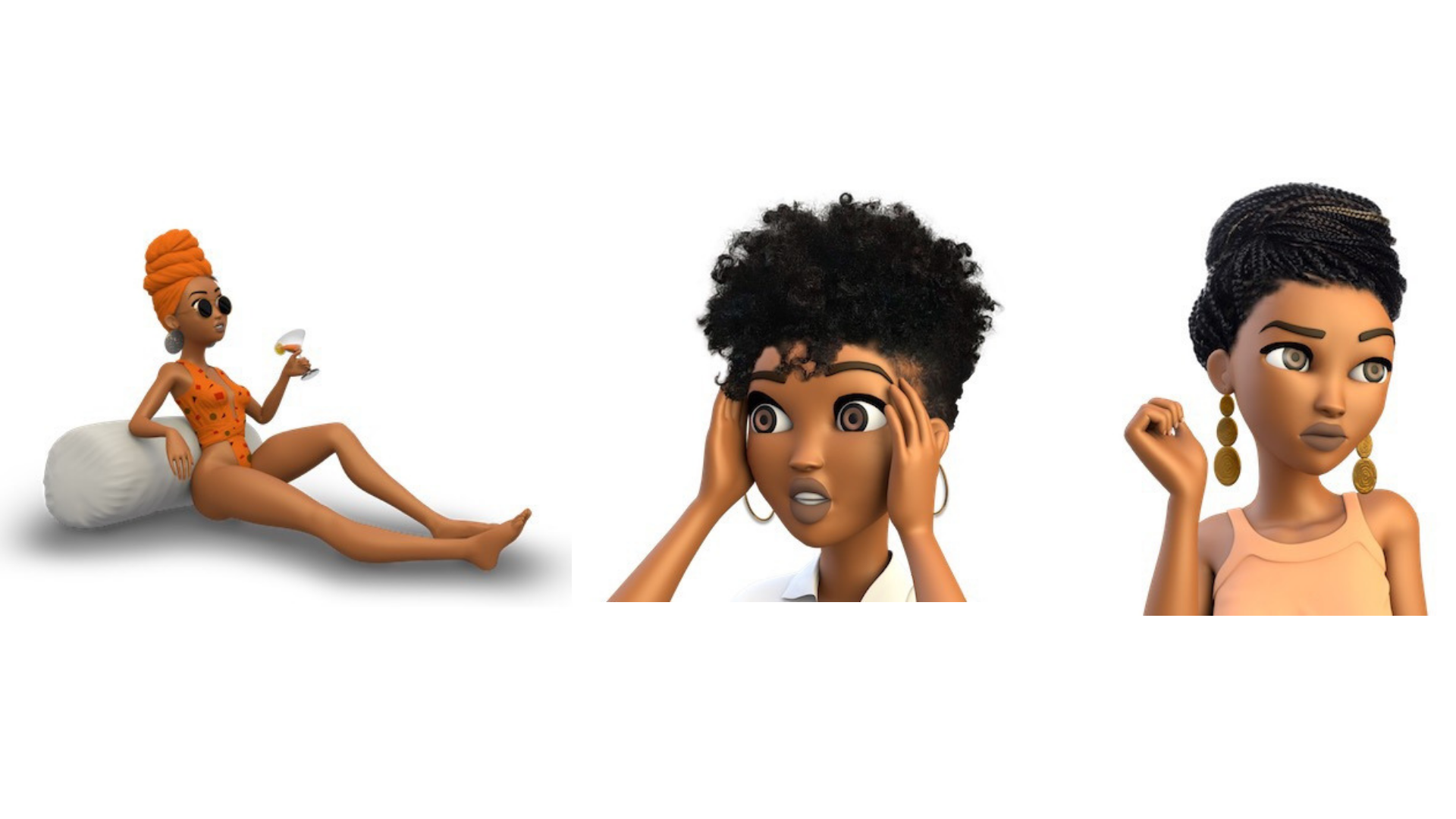 Add some melanated magic to your group chat with the Napturalista Moji App